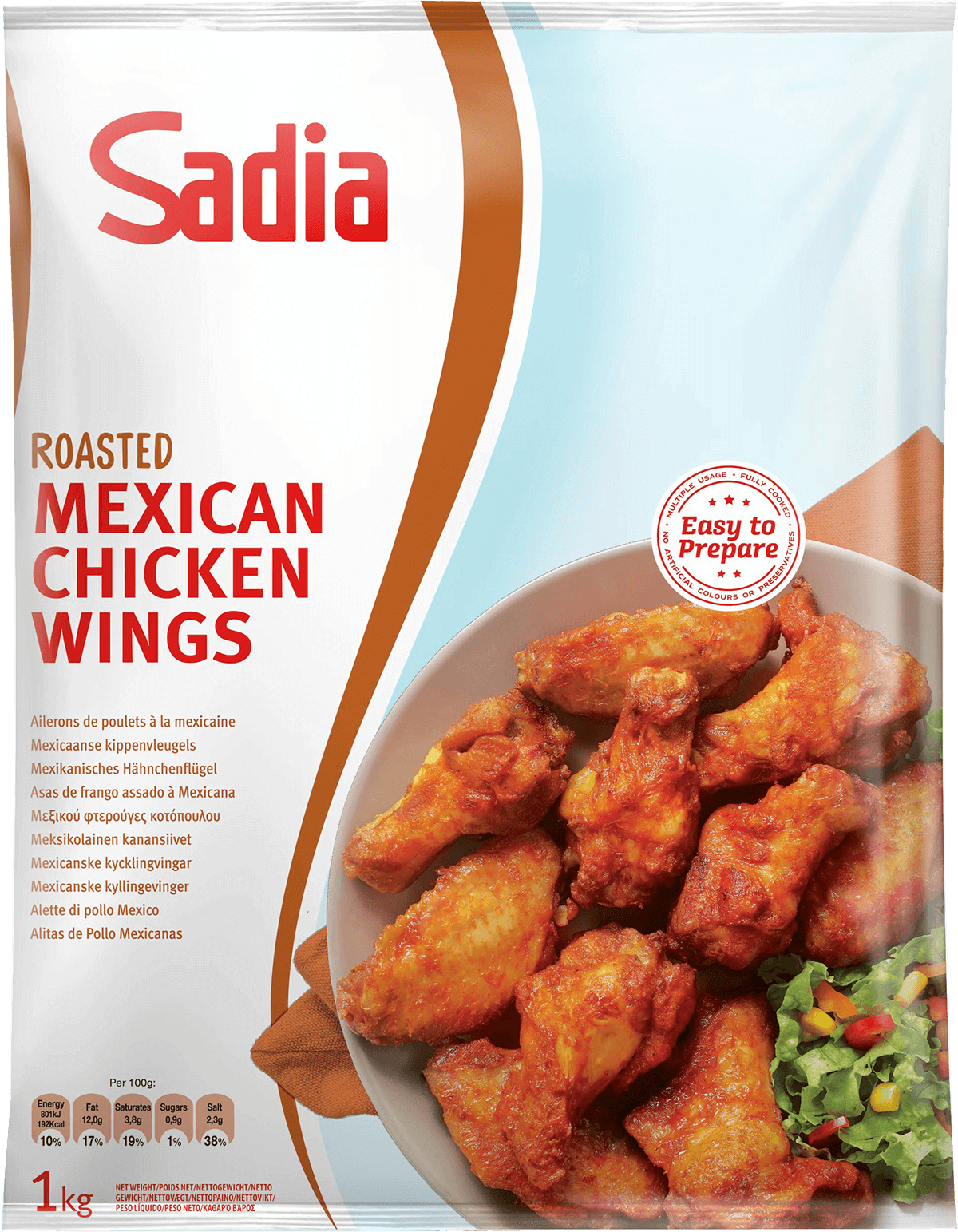 453780 651145 roasted mexican chicken wings 3x1kg ps